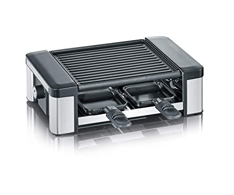 SEVERIN Raclette Partygrill con Plancha Reversible, 600 W aprox., Incl. 4 Mini