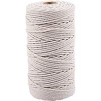 Jcevium 3 mm x 200 m natuurlijke handgemaakte katoenen koord macramé garen touw DIY muur cover plant op? lange…
