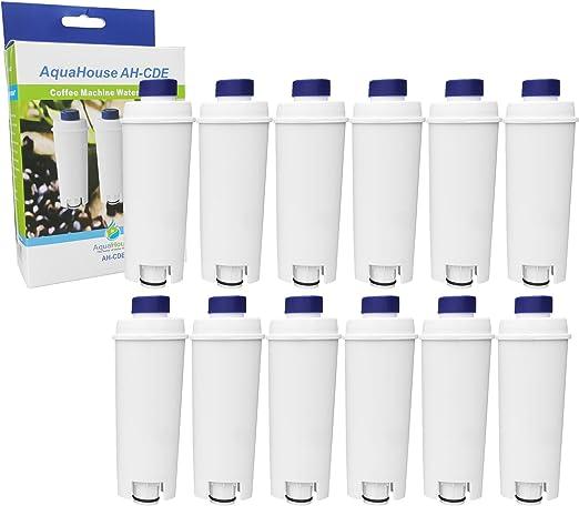 12 cartuchos de filtro de agua AH-CDE compatibles con cafetera DeLonghi Espresso C800 EC820 EC850 BCO400 ECAM Series, DLSC 002 / SER3017: Amazon.es: Hogar