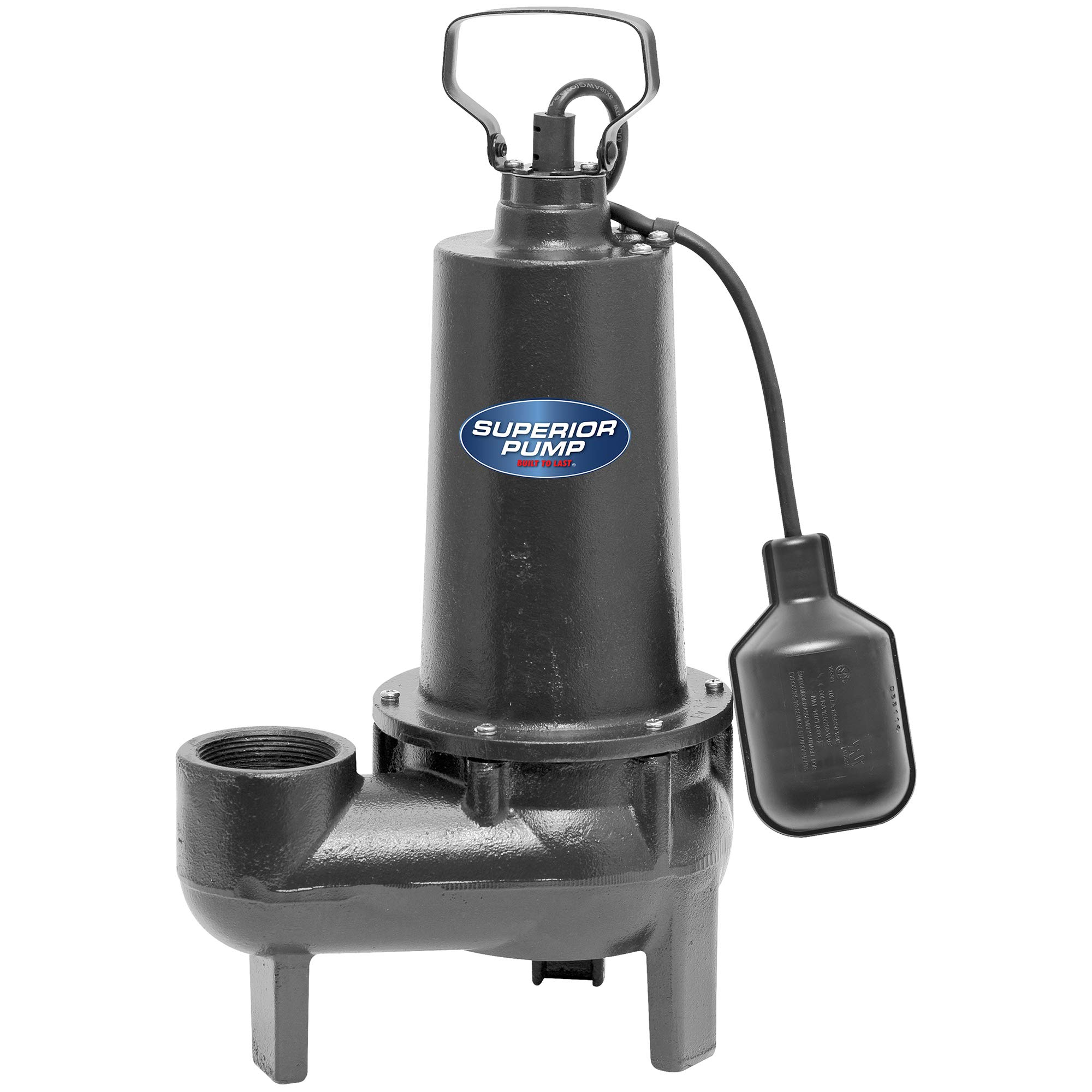 Superior Pump 93501 1/2 HP Cast Iron Sewage Pump with Tethered Float Switch by Superior Pump