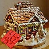 Starter DIY Cake Mold Fondant Mold- Christmas Gingerbread House Chocolate Silicone Mold