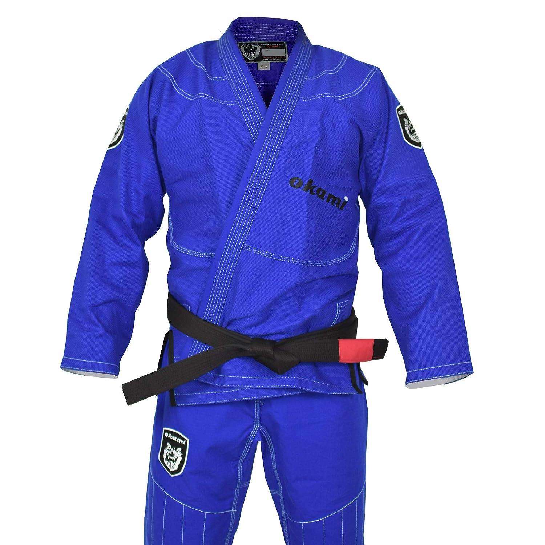 Black BJJ GI Brazilian Jiu Jitsu Uniform Suit Grappling Competition White Blue