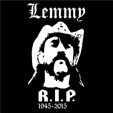 Holashirts Mallorca Lemmy Rip Aufkleber Sticker Autoaufkleber 185x100mm Folie Fan Art Weiss Küche Haushalt