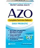 AZO Complete Feminine Balance Daily Probiotics for Women - 30 Count - Clinically Proven to Help Protect Vaginal Health…