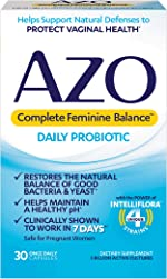 AZO Complete Feminine Balance Daily Probiotics for Women - 30 Count