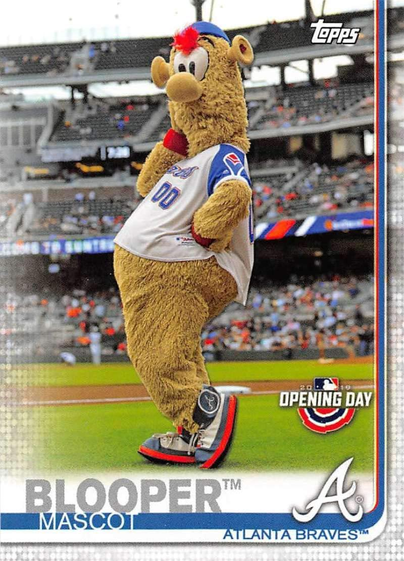 Amazon Com 2019 Topps Opening Day Mascots Baseball M 1 Blooper Atlanta Braves Official Mlb Trading Card Collectibles Fine Art