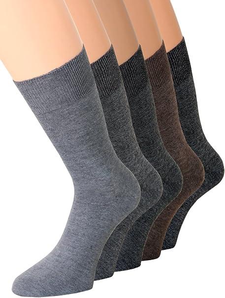 kb-Socken 5 pares de calcetines calcetines para hombre diabéticos sin goma Colores 100% algodón: Amazon.es: Ropa y accesorios