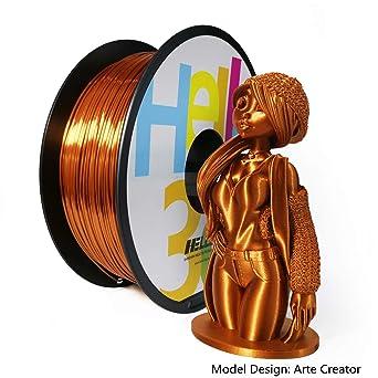 Amazon.com: Hello3D Filamento de seda PLA de 0.069 in ...