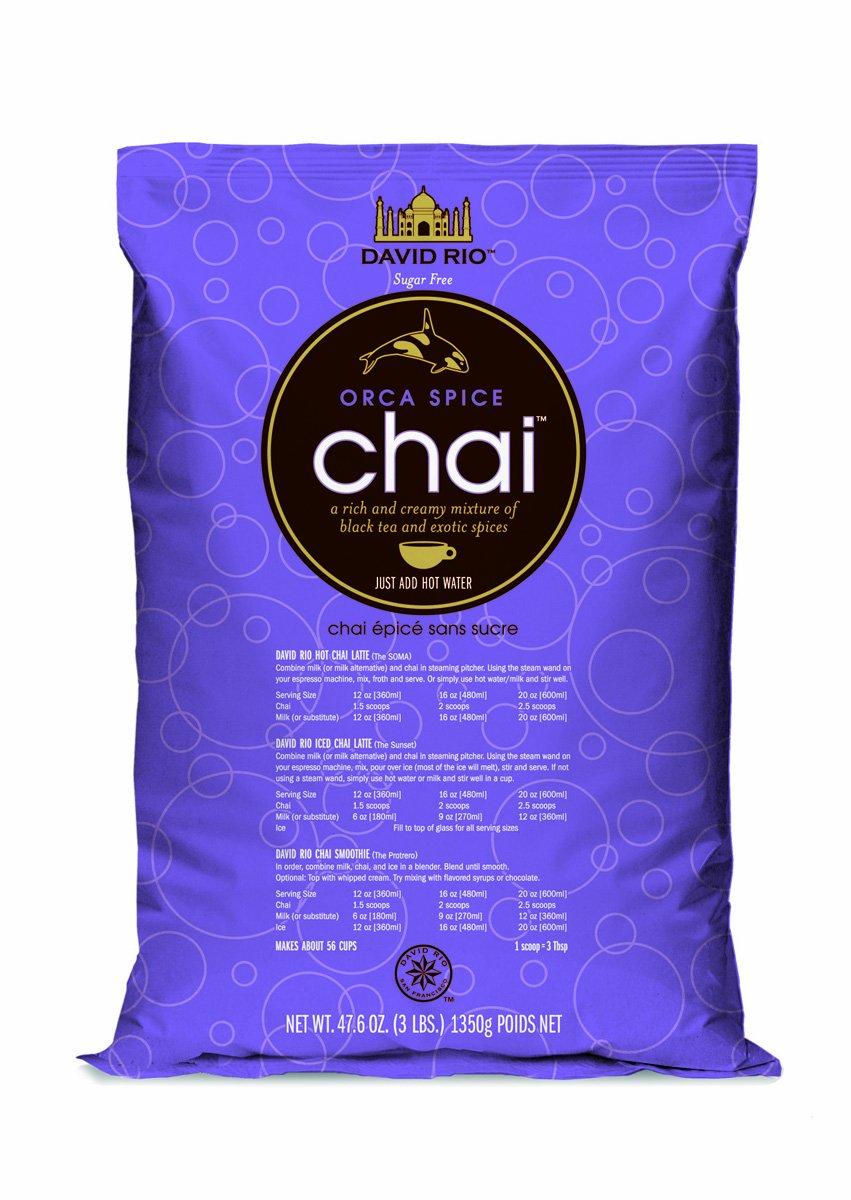 David Rio Orca Spice Sugar-free Chai, 3 Lb. Bag