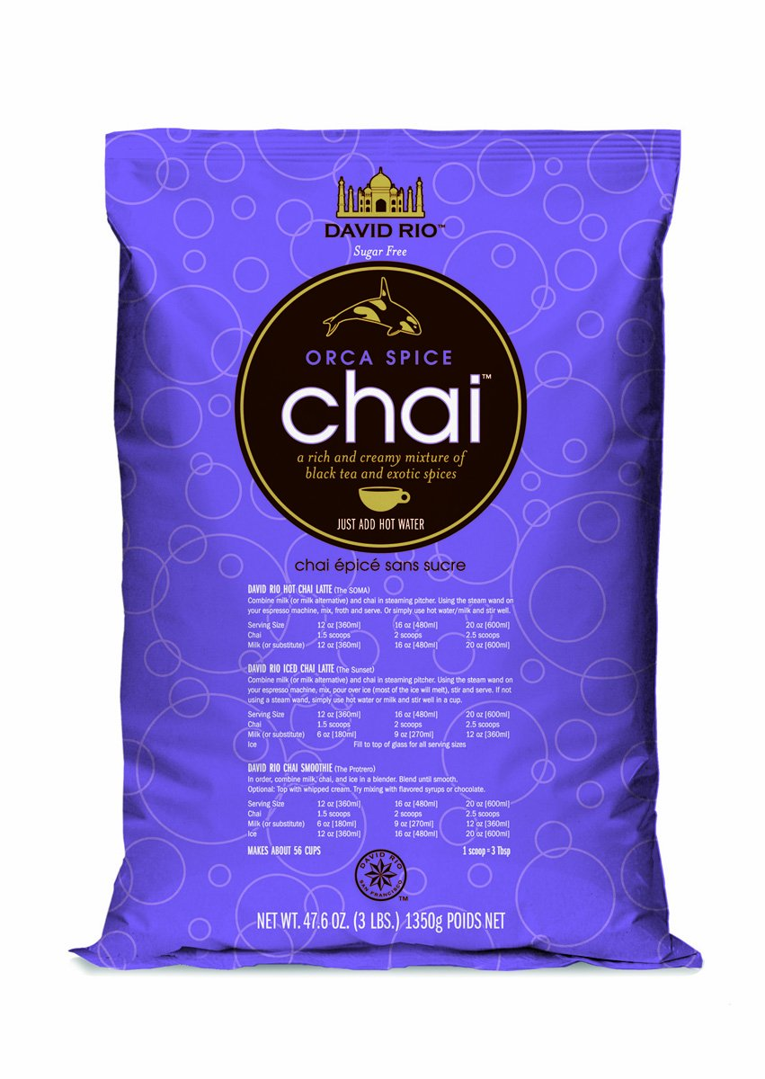 David Rio Orca Spice Sugar-free Chai, 3 Lb. Bag
