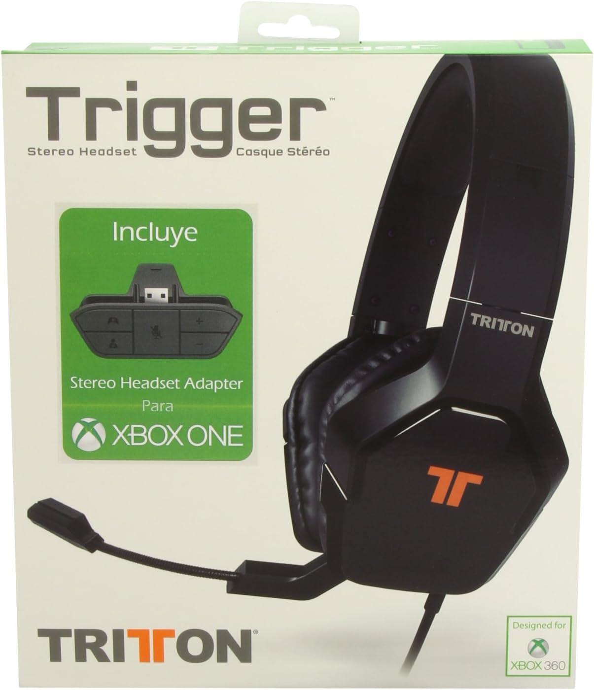 Mad Catz - Auriculares Tritton Stereo Trigger + Adaptador Oficial Xone (Xbox One): Amazon.es: Videojuegos