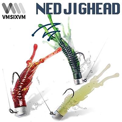 25//50pcs Ned Rig Jig Heads Mushroom Freshwater Soft Plastics Lures Lead Jigs