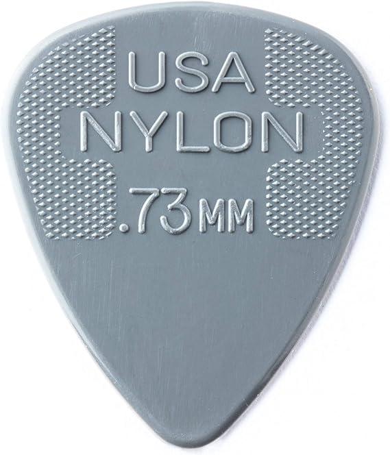 Dunlop nailon Púas para guitarra de tamaños 12 Unidades/ 72