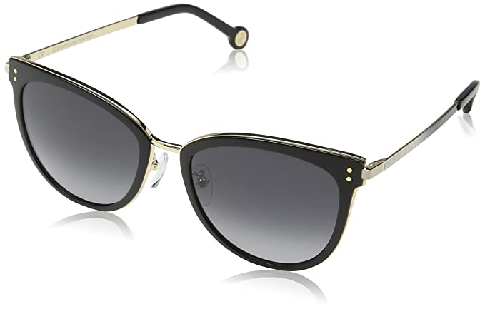 Amazon.com: Carolina Herrera Designer Sunglasses SHE102-08FE ...