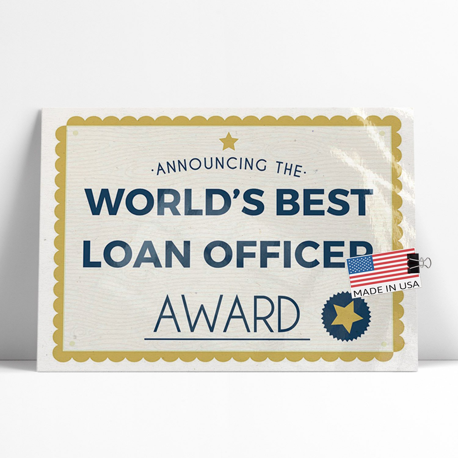 Amazon Neonblond Large Poster Worlds Best Loan Officer