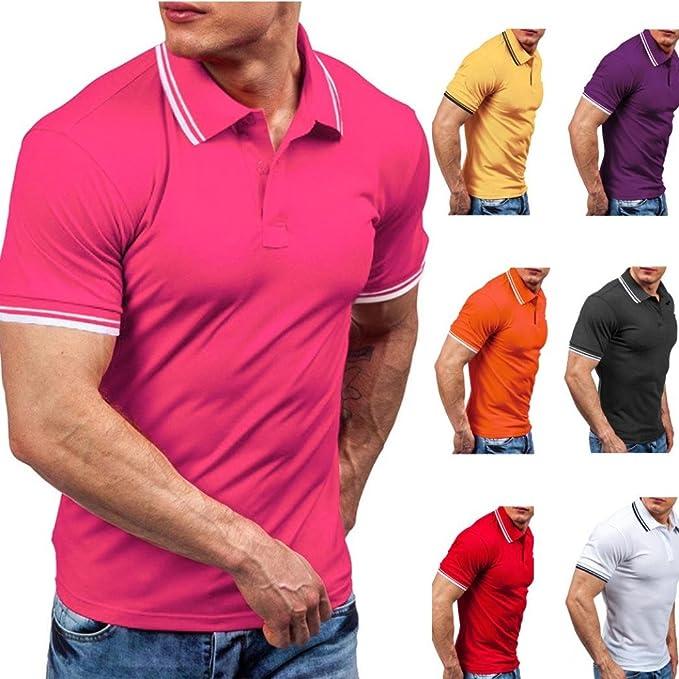 WINWINTOM Verano Diario Camisas De Hombre, Moda Estilo de Verano ...