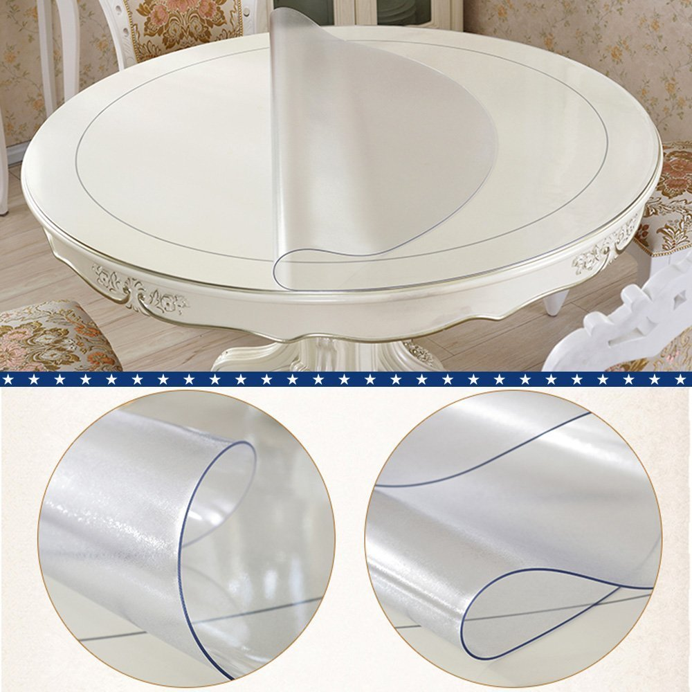 Clear Plastic Table Top Protector - Amazoncom frosted eco thick pvc round table protector desk cover dining table pad furniture tabletop round protective cover clear plastic round tablecloth