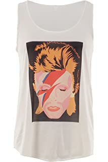 8d71918545 Amazon.com  Bravado David Bowie Smoking Photo Juniors Racerback Tank ...