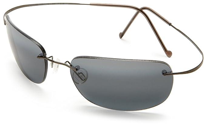 Maui Jim 716-06 MP-8G Gunmetal Blau Frigate Rimless Sunglasses Polarised Lens Category 3 nS4jvG