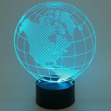 Amazon.com: wonfast® 3d mundo American Globe Ilusión óptica ...
