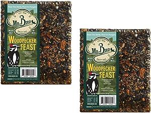 Mr. Bird 2-Pack Woodpecker Feast Large Wild Bird Seed Block 1 lb. 12 oz.