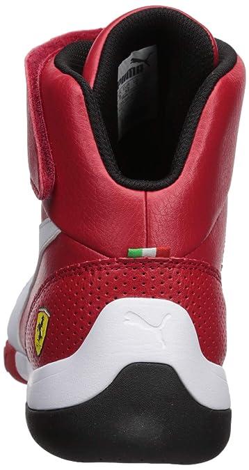 Amazon.com: PUMA Mens Ferrari Kart Cat Mid III Sneaker Rosso Corsa White, 9 M US: Shoes