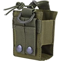 Molle Radio Pouch, Tactical Radio Carry Bag Case Bag Nylon Lightweight Military Water Bottle Interphone Storage Bag Pouch for Molle System 4 Colors(CP Camo)