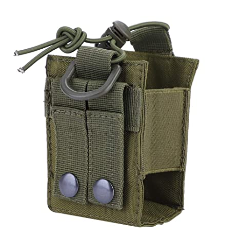 Military Interphone Storage Bag Nylon Lightweight Water Bottle Bag Two Way Radio Holster for Molle System Tactical Molle Radio Pouch