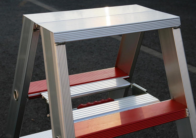 113x54x23cm Marke: Szagato Alu-Profi-Doppelleiter 2x4 Stufen//Sprossen Stehleiter, Anlegeleiter, Aluleiter, Kombileiter, Leiter Aluminium