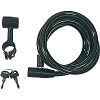 VDP - Candado de Cable en Espiral para Bicicleta (180 cm, con Soporte)
