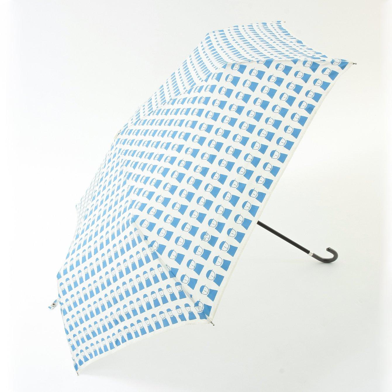 (ピッコーネ アッチェッソーリ) PICONE ACCESSORI 雨用折畳傘 50cm ポリエステル100% 連続司祭柄 683PI421 ブルー B07DK6QP84 ライトブルー ライトブルー