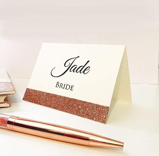10 tarjetas personalizadas de lujo para mesa de boda, color marfil ...