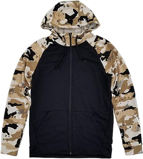 Nike Men's Dri Fit Lightweight Camo Fleece Full Zip Hoodie