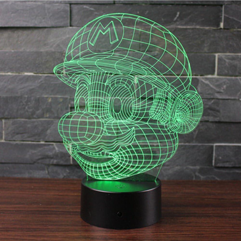 Lapin Mignon 3D Lampes Illusions Optiques NHsunray 7 couleurs Changement Tactile Interrupteur Lumi/ère De Nuit Art D/éco Faites Une Romantique Dans La Chambre Denfants Salon Bar Caf/é Restaurant