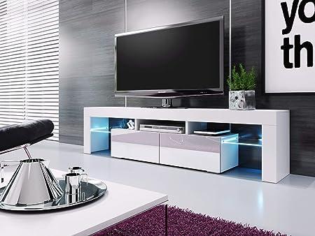 baltic meubles meuble banc tv blanc