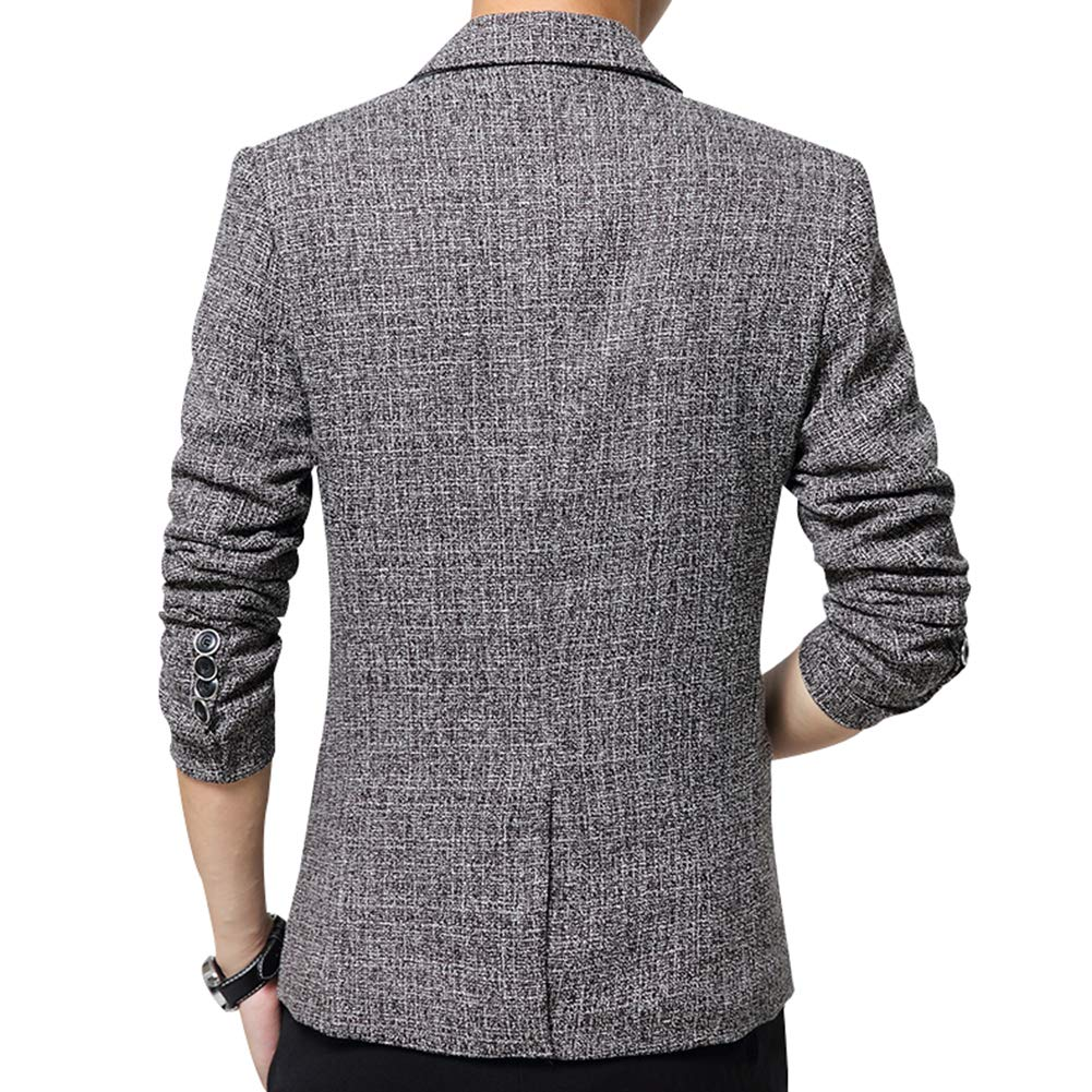 SUSIELADY Mens Blazer Jacket Slim Fit One Button Sport Coat Notch Lapel Casual Business Solid Single Breasted Outwear