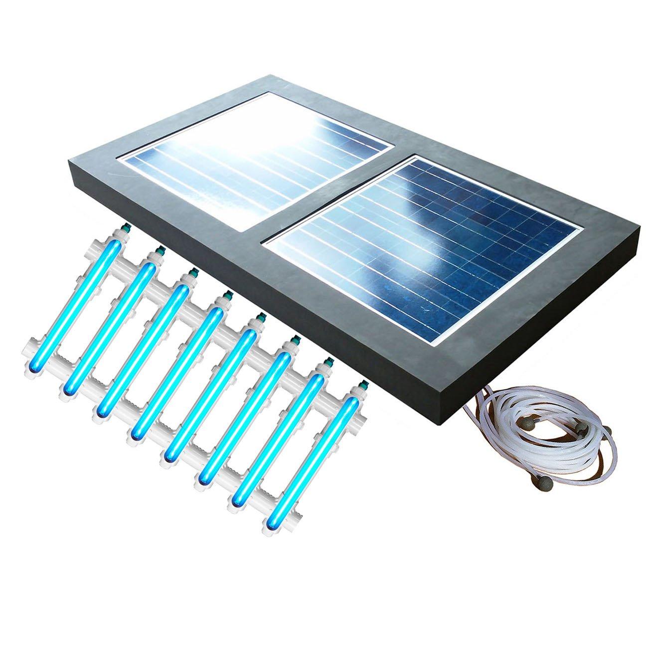 Natural Current Savior UV O3 Ultraviolet Ozone Pool Sanitation Disinfection Filter System, 120-watt