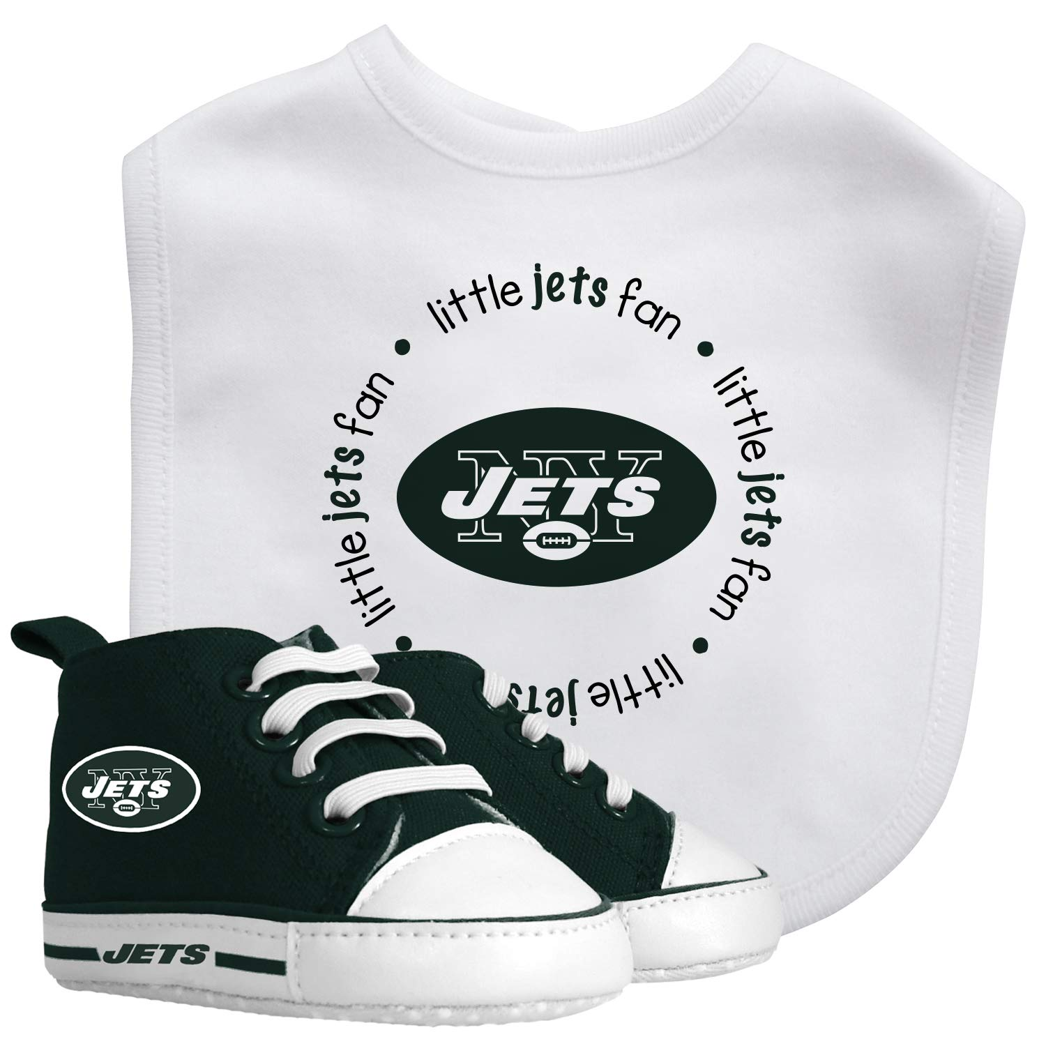 Baby Fanatic Bib with Pre-Walker New York Jets