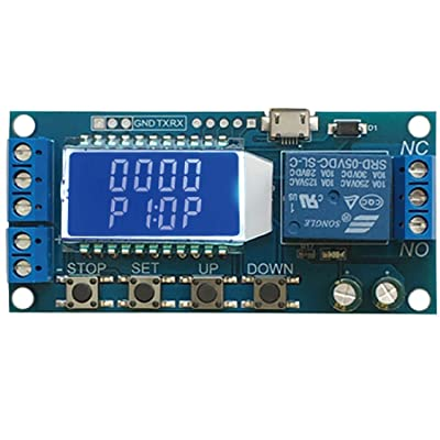 Sintron ST-030 Timer Relay with LCD ST-030 Multi Mode Timer Module to Control Device, Wide Voltage DC Input 6~30V (Micro USB 5V Supported Too), Home & Office Automation, with Tech Support !: Computers & Accessories