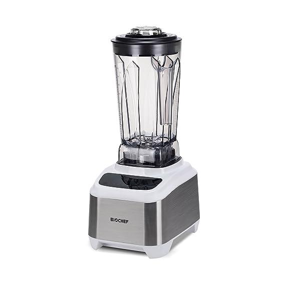 BioChef Atlas Power Blender - Batidora Profesional Sin Escobillas (Brushless Blender), 1000W, Silenciosa (75dB), 16 Programas, 10 Años de Garantía (Blanco): ...