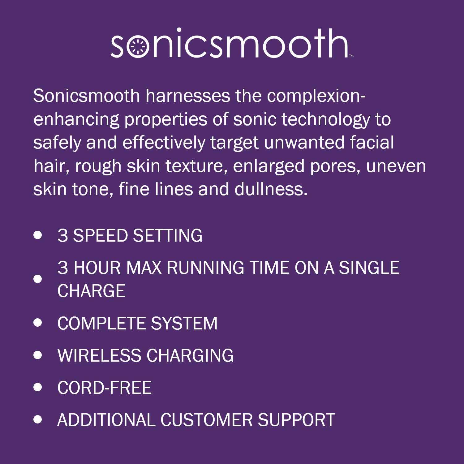 Michael Todd Beauty Sonicsmooth Sonic Dermaplaning Device for Exfoliation &  Peach Fuzz Removal with 8