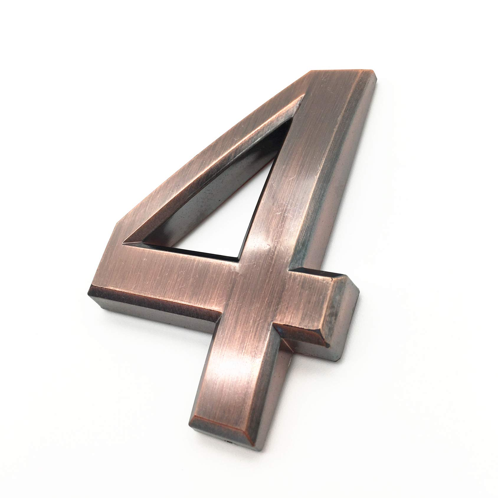 2, Bronze by Hopewan. Bronze//Silver 4 Inch Mailbox Numbers 2, Door Address Number Stickers 0-9 for House//Apartment//Floor