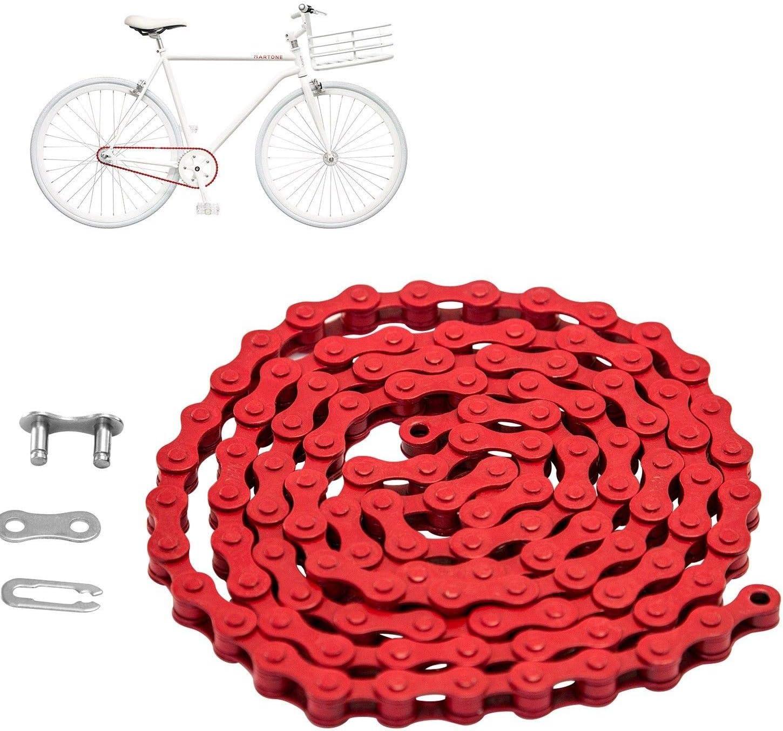 Bicycle Bike Chain Single Speed 1//2/'/'x1//8/'/' Colours MTB BMX Fixie Fixed Gear US