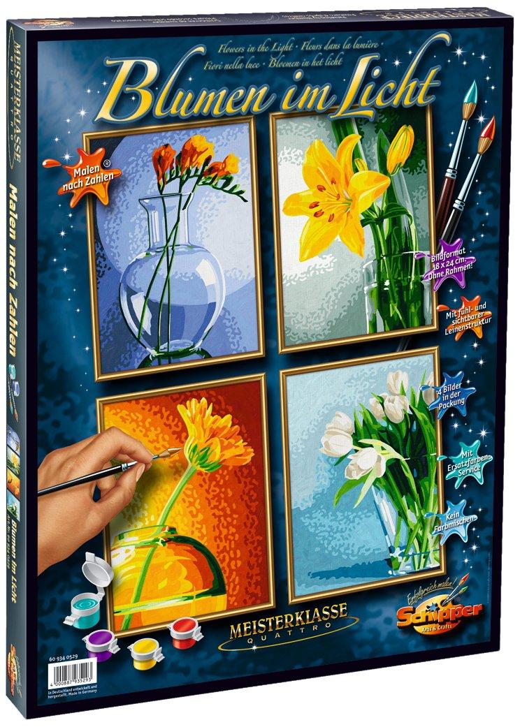 Schipper 609340529 - Malen nach Zahlen - Blumen im Licht (Quattro ...