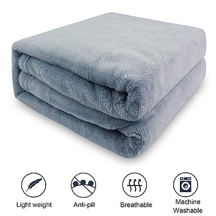 1 Piece Grey Fluffy Fleece Dog Blanket M Premium Soft and Warm Pet ...