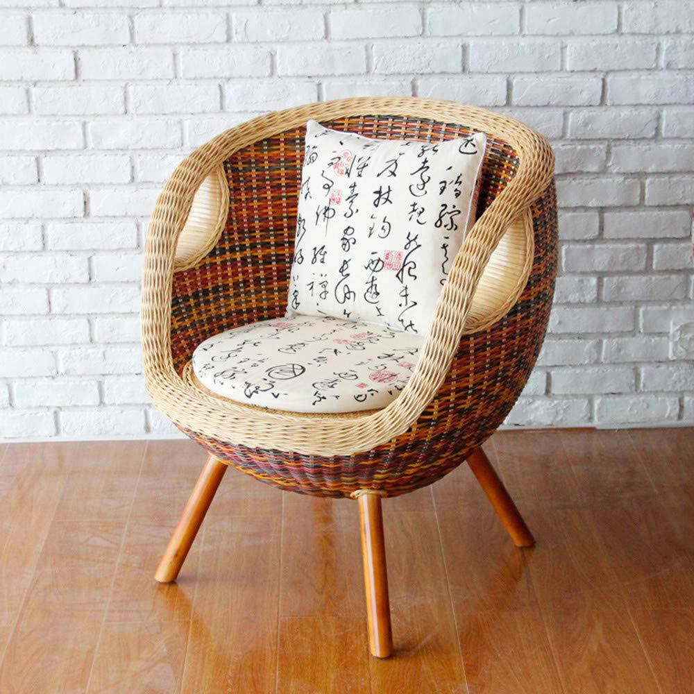 Amazon.com - SEEKSUNG Chair, Handmade Pe Rattan Woven Chair, Multi ...