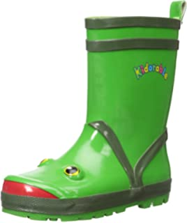 Amazon.com | Little Boy's Green Frog Rain Boots Sizes Toddler ...