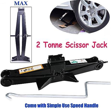Capacity with Crank Handle Car Tire Repair Kit Emergency Rust-Resistant US Stock Ratchet Handle Saving Strength Design,for Car Truck Universal Sedan Scissor Jack 2 Tons 4,410 lbs