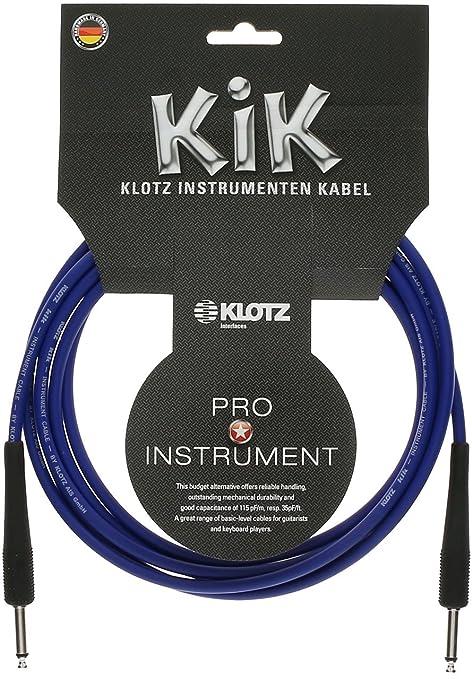 Amazon com: Klotz KIK3-0PPBL KIK Instrument Cable, ¼-Inch
