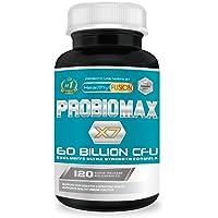 PROBIOMAX X7 – 60 MILLIARDS de CFU – Formule unique et exclusive à large spectre – Probiotiques micro-encapsulés pour prévenir leur dégradation – 120 gélules. Légumes à libération contrôlée.